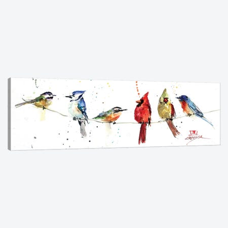 Birds On A Wire Canvas Print #DCR148} by Dean Crouser Canvas Wall Art