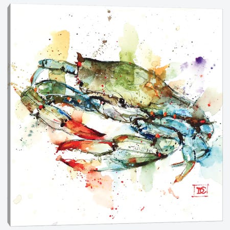 Blue Crab Canvas Print #DCR149} by Dean Crouser Canvas Wall Art