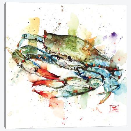 Blue Crab Canvas Print #DCR149} by Dean Crouser Canvas Wall Art