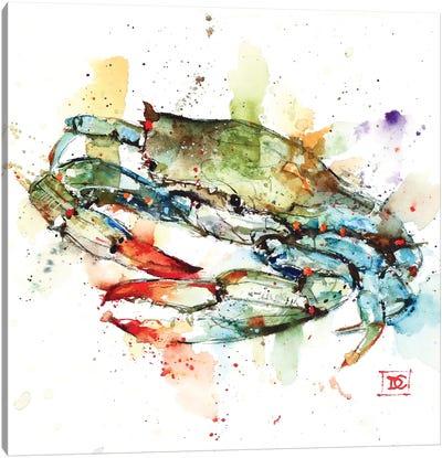 Blue Crab Canvas Art Print