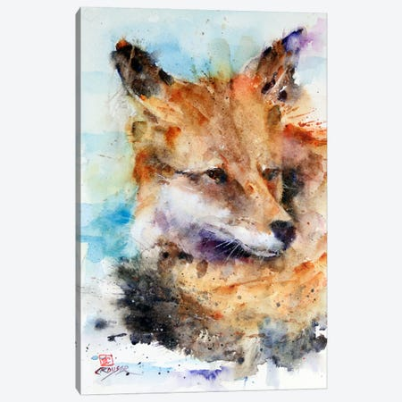 Fox Canvas Print #DCR14} by Dean Crouser Art Print