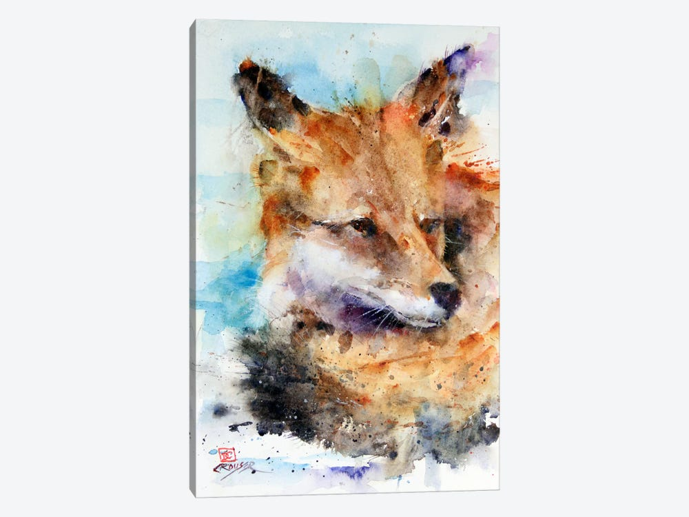 Fox 1-piece Canvas Wall Art