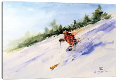 Downhill Master Canvas Art Print