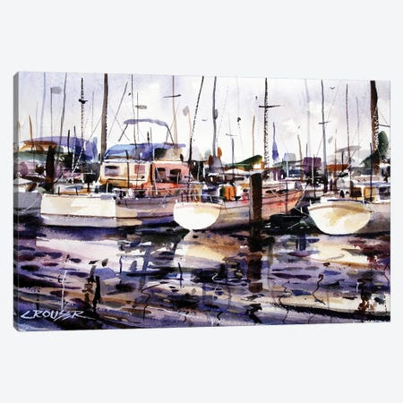 Everett Boat Slips Canvas Print #DCR158} by Dean Crouser Canvas Print