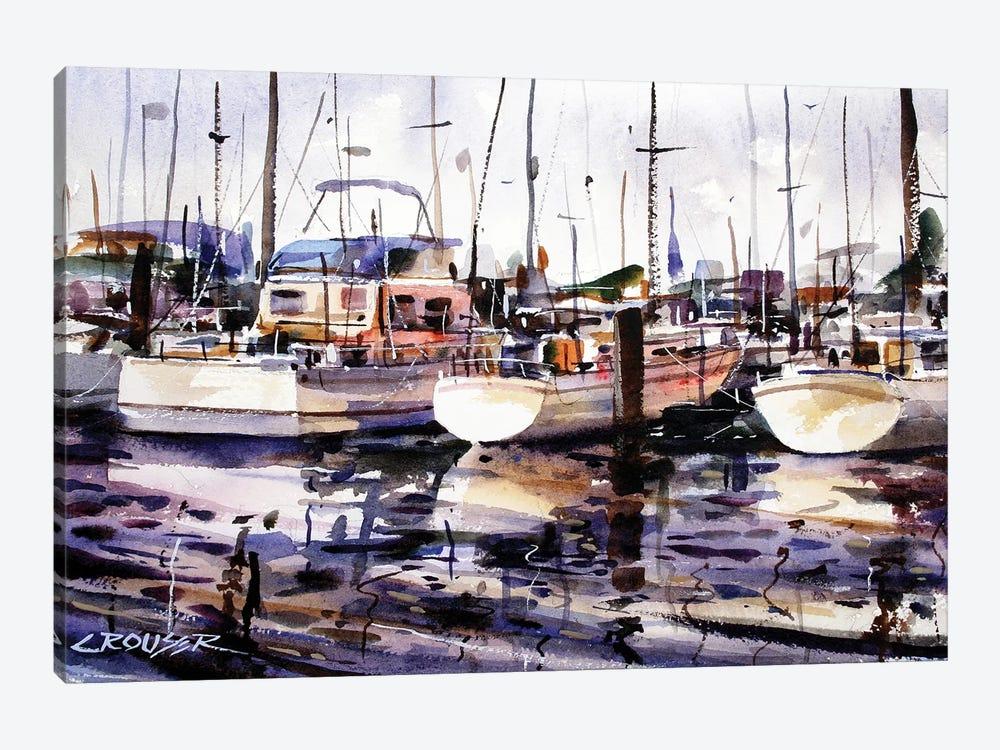 Everett Boat Slips by Dean Crouser 1-piece Canvas Art