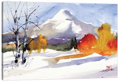 Fall Meets Winter Canvas Art Print