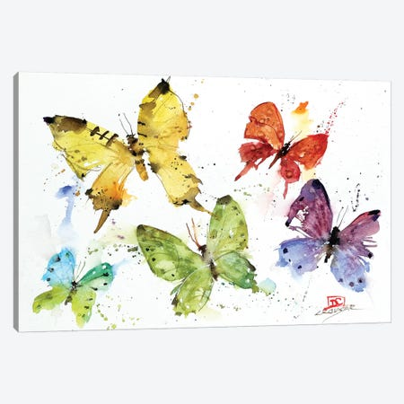 Flock Of Butterflies Canvas Print #DCR161} by Dean Crouser Canvas Art