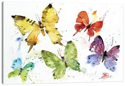 Flock Of Butterflies Canvas Art Print