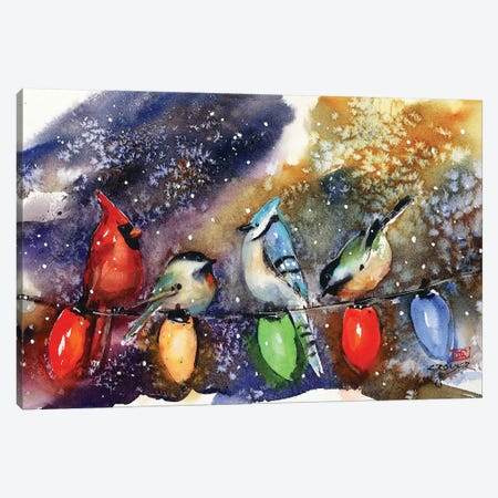 Holiday Chirpers Canvas Print #DCR163} by Dean Crouser Canvas Wall Art