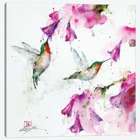 Hummingbirds And Floral Canvas Print #DCR166} by Dean Crouser Canvas Art Print