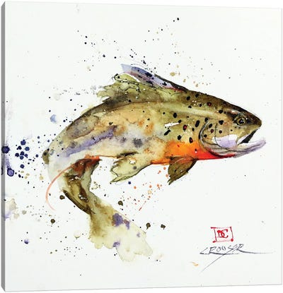 Jumping Trout Good Canvas Art Print