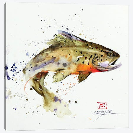 Jumping Trout Good Canvas Print #DCR169} by Dean Crouser Canvas Art