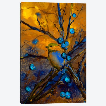 Bird & Berries Canvas Print #DCR16} by Dean Crouser Canvas Print