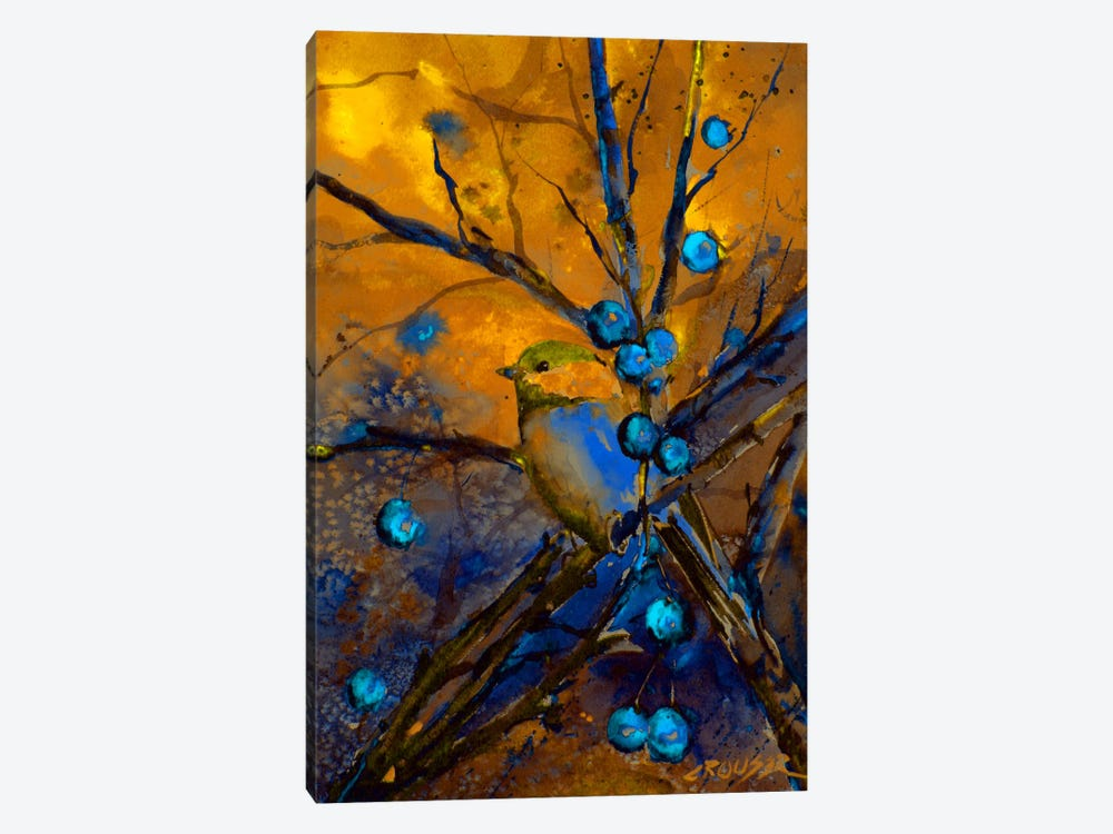 Bird & Berries by Dean Crouser 1-piece Canvas Art
