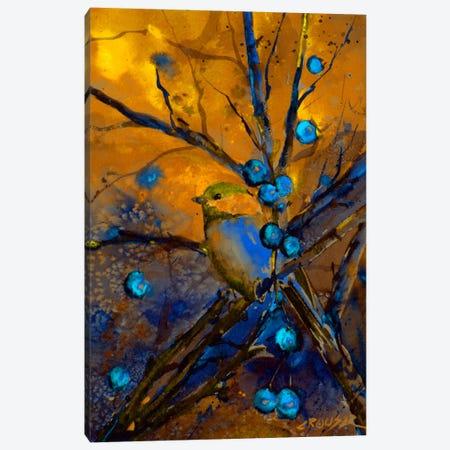 Bird & Berries Canvas Print #DCR16} by Dean Crouser Canvas Print