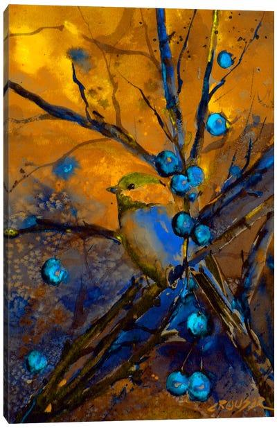 Bird & Berries Canvas Art Print