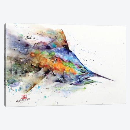 Marlin Canvas Print #DCR173} by Dean Crouser Canvas Print