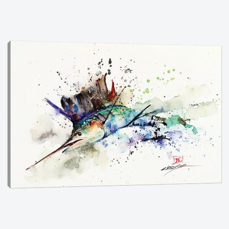Sailfish Canvas Print #DCR177} by Dean Crouser Canvas Artwork