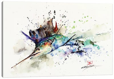 Sailfish Canvas Art Print