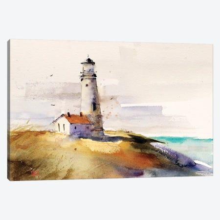 Summer Lighthouse Canvas Print #DCR179} by Dean Crouser Canvas Print