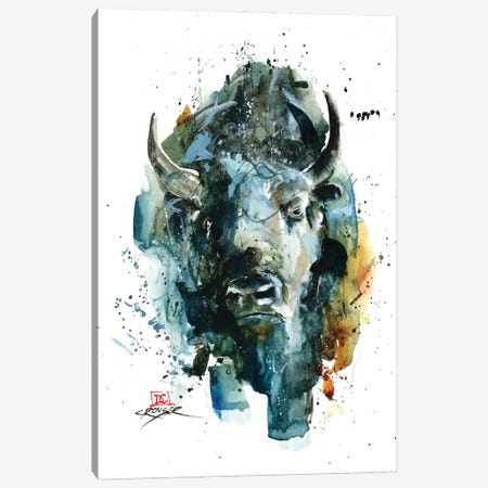 Abstract Bison Canvas Print #DCR182} by Dean Crouser Canvas Art