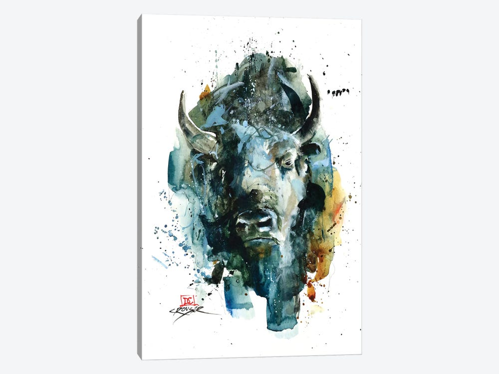 Abstract Bison by Dean Crouser 1-piece Canvas Art Print