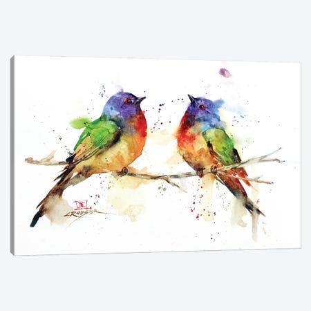 Bunting Pair Canvas Print #DCR185} by Dean Crouser Art Print