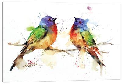 Bunting Pair Canvas Art Print