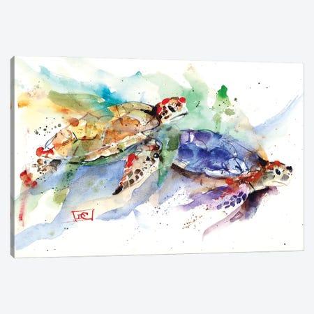 Sea Turtles Canvas Print #DCR188} by Dean Crouser Canvas Artwork