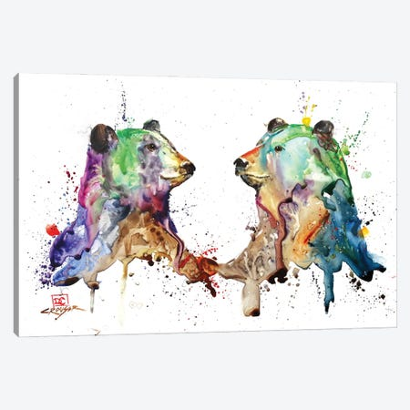 Bear Pair Canvas Print #DCR189} by Dean Crouser Canvas Artwork