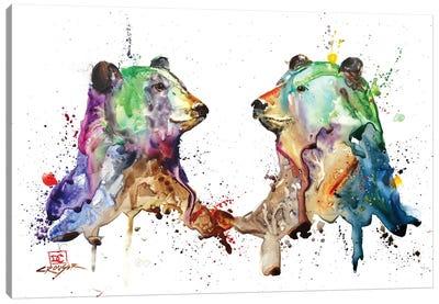 Bear Pair Canvas Art Print
