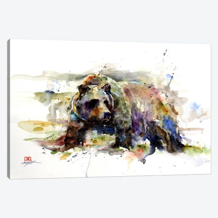 Multi-Colored Bear Canvas Print #DCR18} by Dean Crouser Canvas Wall Art