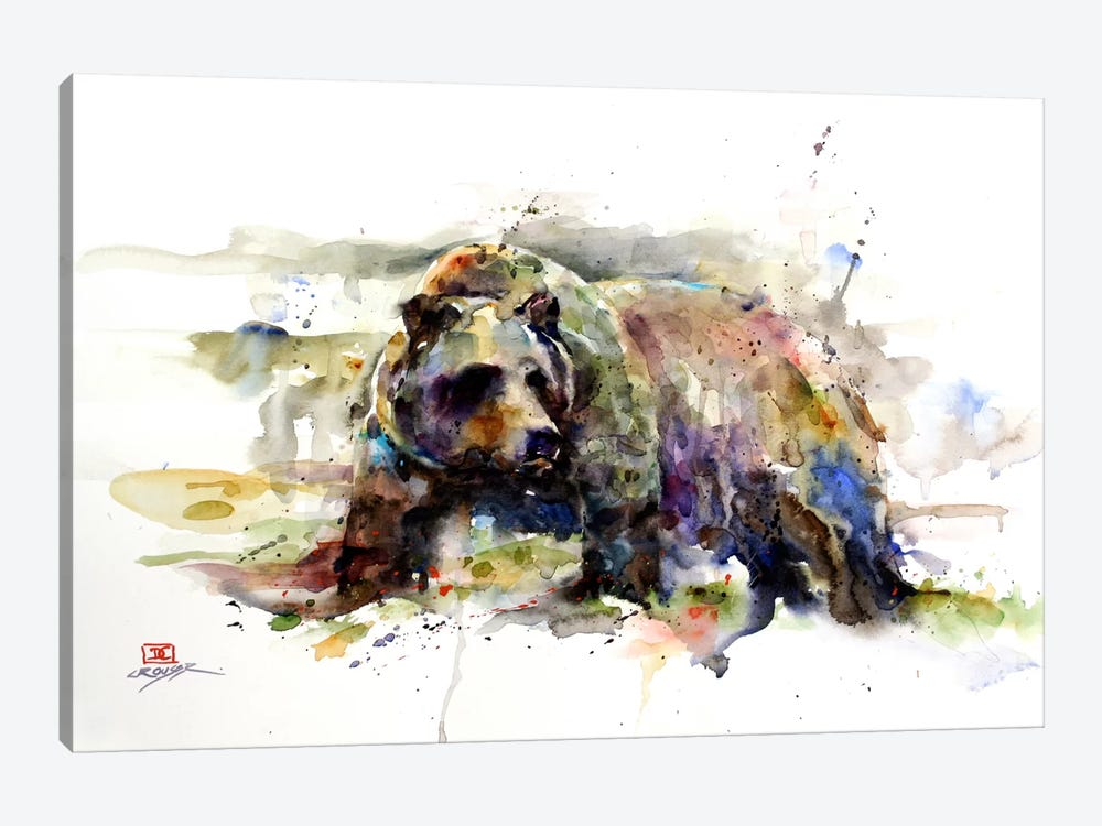 Multi-Colored Bear by Dean Crouser 1-piece Canvas Art