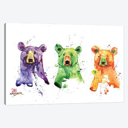 Three Bears Canvas Print #DCR190} by Dean Crouser Art Print