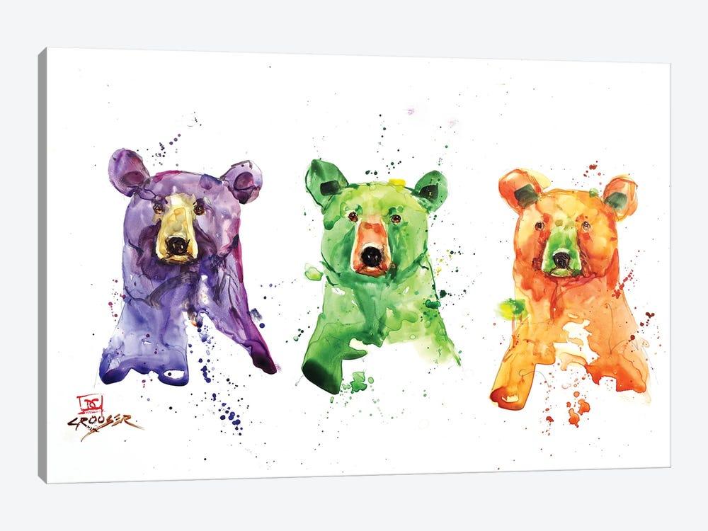 Three Bears by Dean Crouser 1-piece Canvas Art