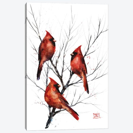 Cardinals in Tree Canvas Print #DCR191} by Dean Crouser Canvas Print