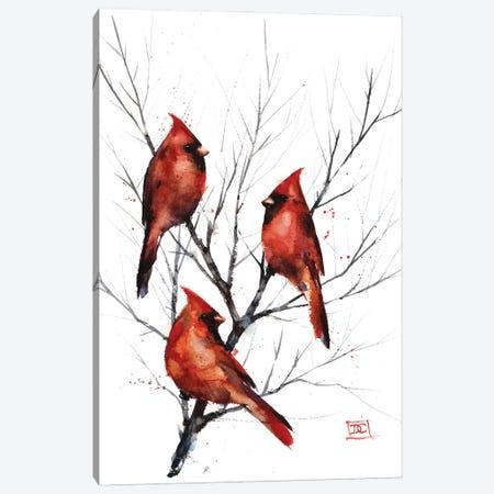 Cardinals in Tree Canvas Print #DCR191} by Dean Crouser Canvas Print