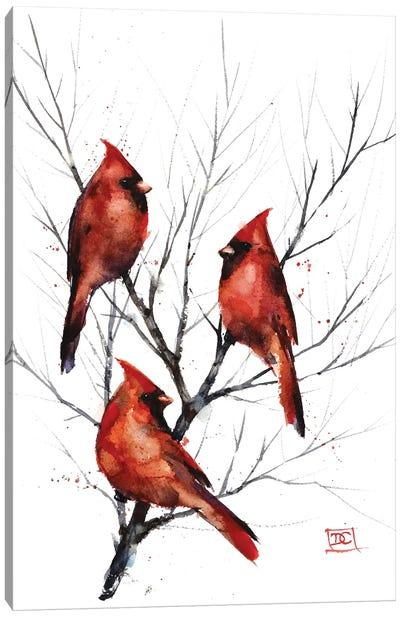 Cardinals in Tree Canvas Art Print