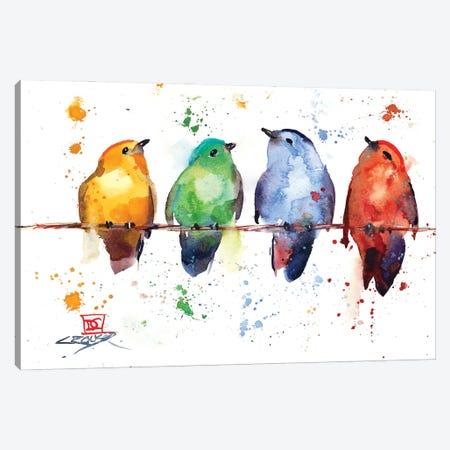 Primary Birds Canvas Print #DCR192} by Dean Crouser Canvas Art Print