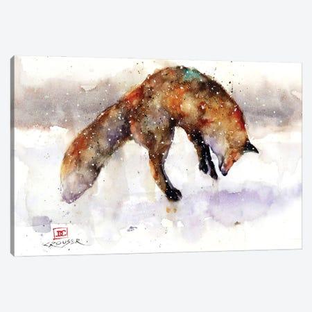 Jumping Fox Canvas Print #DCR194} by Dean Crouser Canvas Artwork
