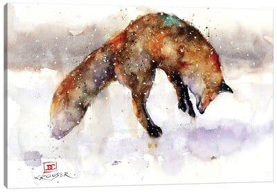 Jumping Fox Canvas Art Print