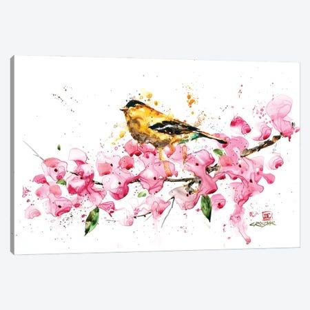 Bird and Cherry Blossoms Canvas Print #DCR198} by Dean Crouser Art Print