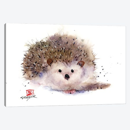 Hedgehog Canvas Print #DCR199} by Dean Crouser Art Print