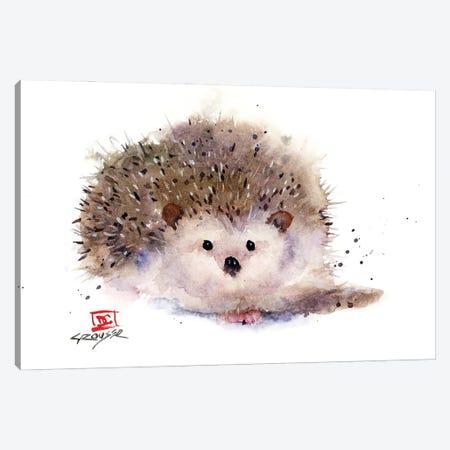 Hedgehog Canvas Print #DCR199} by Dean Crouser Art Print
