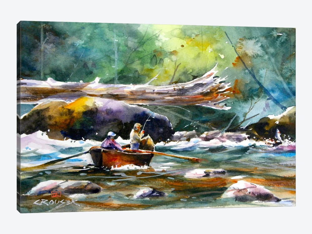 In the Boat II by Dean Crouser 1-piece Canvas Print