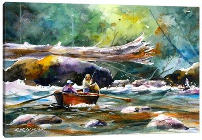 In the Boat II Canvas Art Print