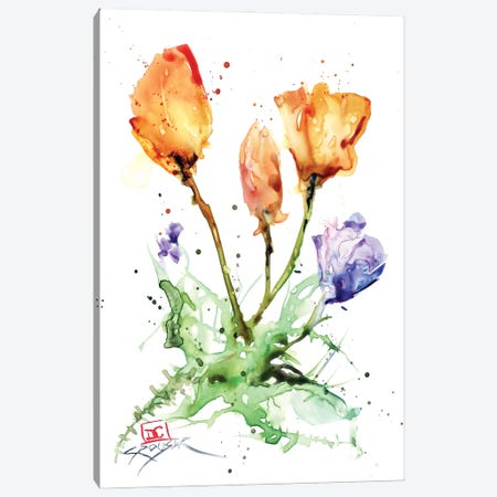 Flowers 3-Piece Canvas #DCR200} by Dean Crouser Art Print