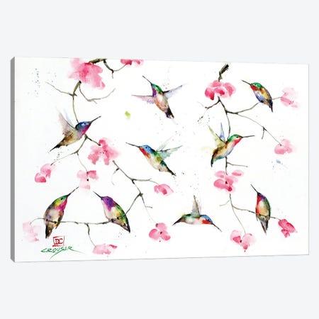Hummingbird Meeting 3-Piece Canvas #DCR201} by Dean Crouser Canvas Print