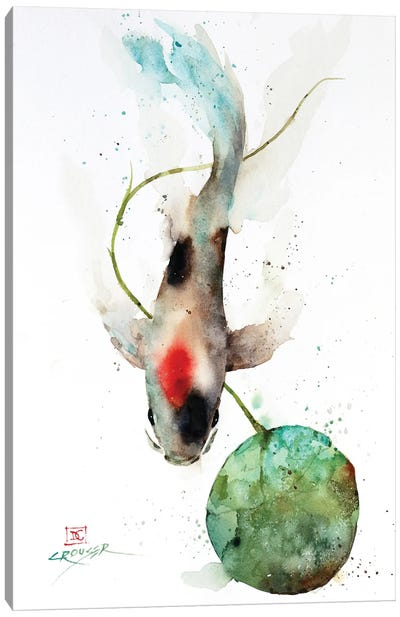 Koi and Lily Pad Canvas Art Print