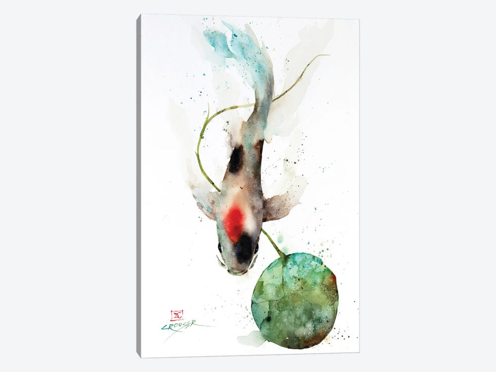 Koi and Lily Pad by Dean Crouser 1-piece Art Print